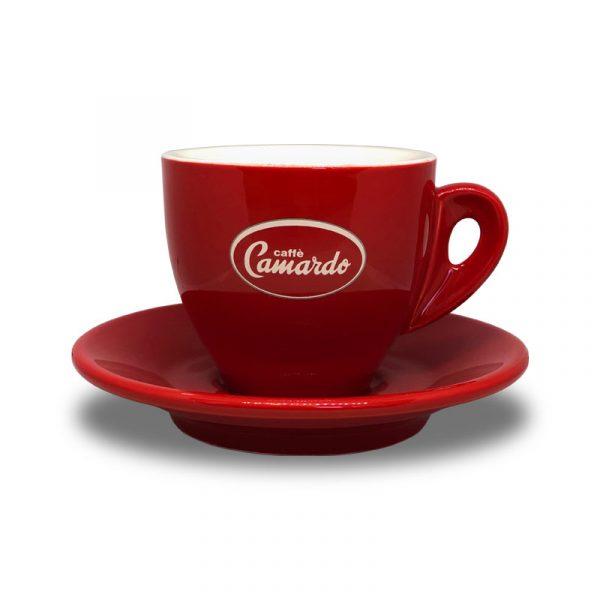 Camardo red cappuccino cup