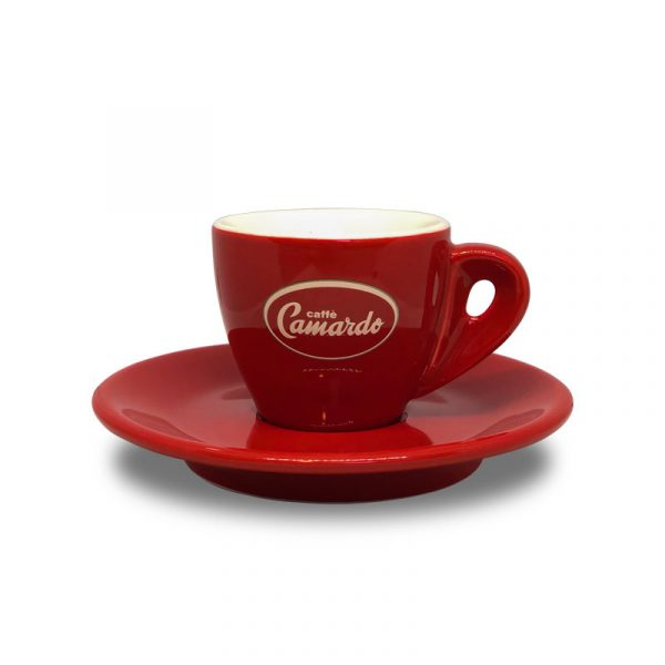 Camardo red espresso coffee cup