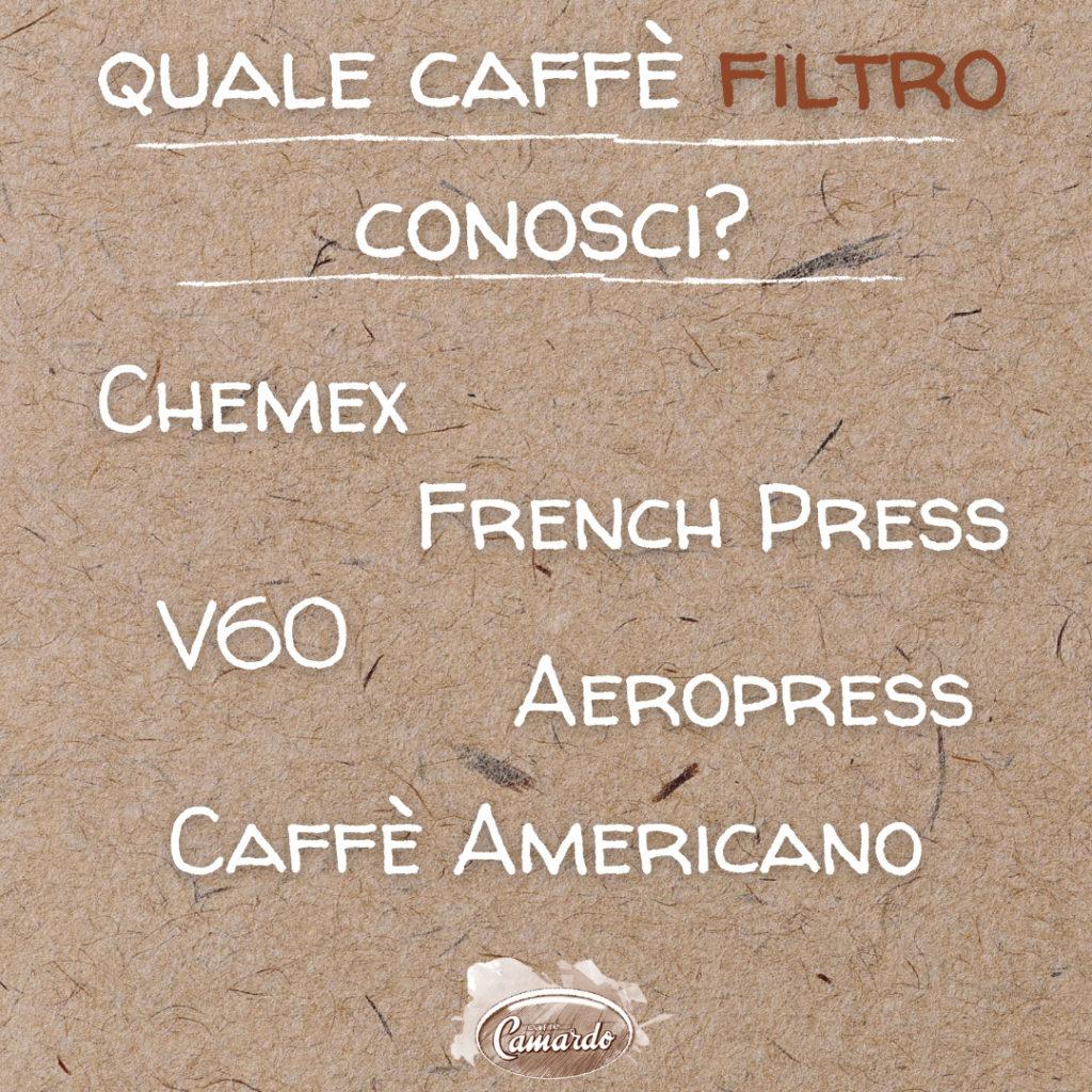 #ascuoladicaffe: sai tutto sul caffè filtro?